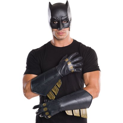 Adult Batman Gauntlets - Superhero Fancy Dress Accessories front