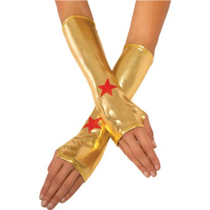 Wonder Woman Gauntlets - Superhero Fancy Dress Accessories front
