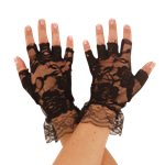 Black Fingerless Lace Gloves