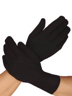 Mens Short Black Gloves