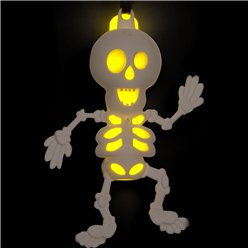 Halloween Glow Skeleton Necklace - 7cm