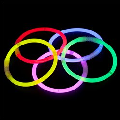 Assorted Colours Glow Bracelets - 20cm