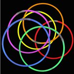 Assorted Colours Glow Necklaces - 56cm