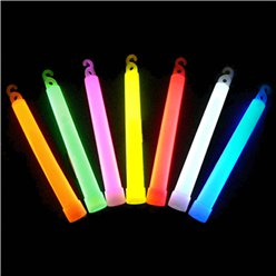 "6"" Glowstick Asst Colours with Lanyard String"