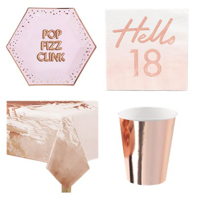 18th Glitz Glamour Birthday Party Pack