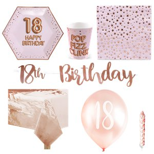 18th Glitz & Glamour Birthday Party Pack - Deluxe Party Pack For 8