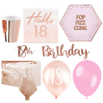 18th Glitz & Glamour Birthday Party Pack - Deluxe Party Pack For 16