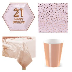 21st Glitz & Glamour Birthday Party Pack - Value Pack For 8