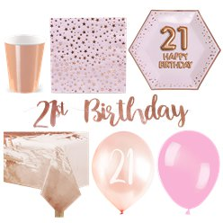 21st Glitz & Glamour Birthday Party Pack - Deluxe Party Pack For 16