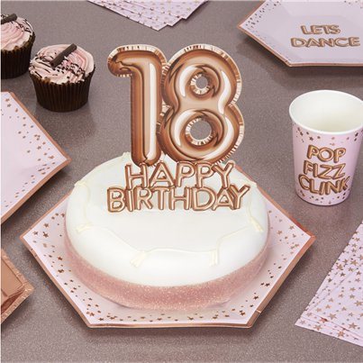 18th Glitz & Glamour Birthday Cake Topper - 21cm
