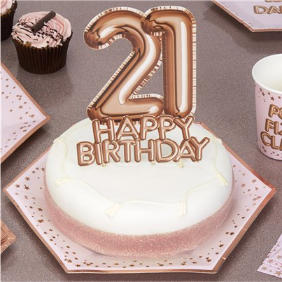 21st Glitz Glamour Birthday Cake Topper