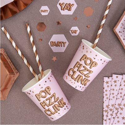 Glitz & Glamour 'Pop Fizz Clink' Paper Cups - 255ml