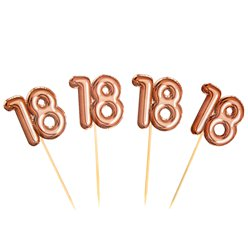 18th Glitz & Glamour Birthday Cupcake Picks