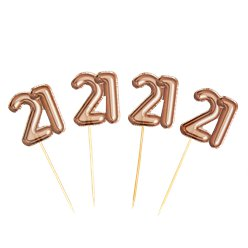 21st Glitz & Glamour Birthday Cupcake Picks