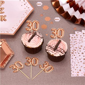 30th Glitz & Glamour Birthday Cupcake Picks