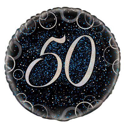 "18"" Blue Prism 50th Foil Balloon"