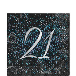 21st Blue Glitz Lunch Napkin
