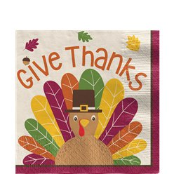 Gobble Gobble Thanksgiving Beverage Napkin