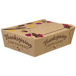 Thanksgiving Foldable Take Away Boxes
