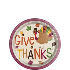Gobble Gobble Thanksgiving Dessert Plate - 18cm