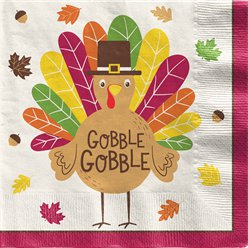 Gobble Gobble Thanksgiving Dinner Napkin