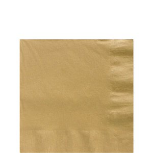 Gold Beverage Napkins - 25cm