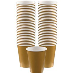Gold Coffee Cups - 355ml Paper Cups