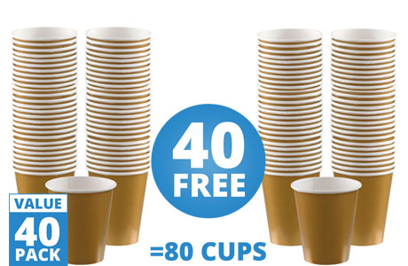 Gold Cups - 355ml Paper Cups