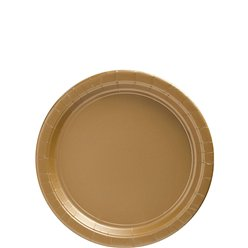 Gold Dessert Plates - 18cm Paper Party Plates