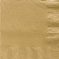 Gold Dinner Napkins - 40cm Square 2ply Paper
