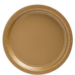 Gold Plates - 23cm Paper Party Plates