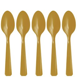 Gold Reusable Spoons - 20pk