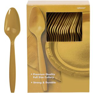 Gold Reusable Spoons - 100pk
