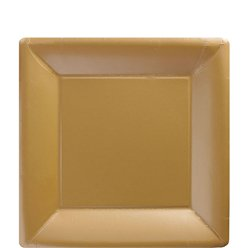 Gold Square Plates - 18cm Paper Party Plates