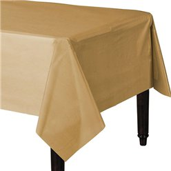 Gold Plastic Tablecover - 1.4m x 2.8m