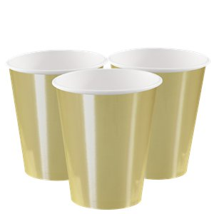 Metallic Gold Paper Cups - 355ml