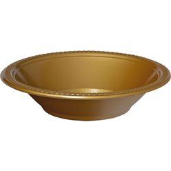 Gold Party Bowls - 355ml Plastic