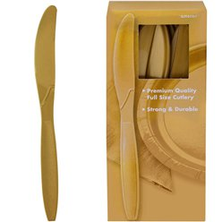 Gold Plastic Knives
