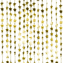 Gold Glitter Star Foil Curtain Backdrop