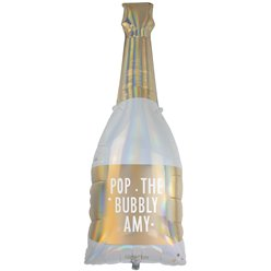 "Gold Glitter Giant Iridescent Bottle Balloon - 42"" Foil"
