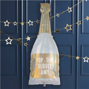 Gold Glitter Giant Iridescent Bottle Balloon - 42