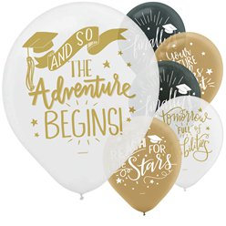 "The Adventure Begins Balloons - 12"" latex"