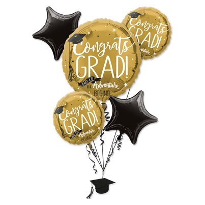 Graduation Foil Balloon Bouquet - Assorted Foil