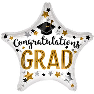 Congrats Grad Star Balloon - 18