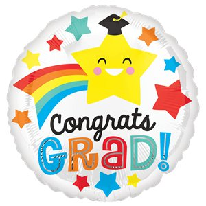 Congrats Grad Smile Balloon - 18