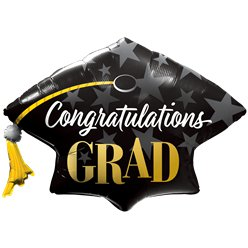"Congratulations Grad Stars Supersize Balloon - 41"" Foil"