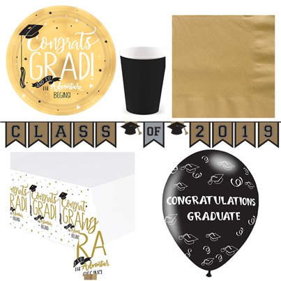 Graduation Party Pack - Deluxe Pack For 8