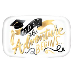 Graduation Rectangle Plastic Serving Platter - 35cm