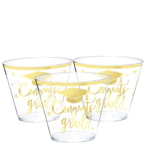 Graduation Plastic Tumblers - 266ml