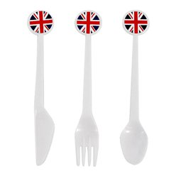 Union Jack Assorted Reuseable Plastic Cutlery